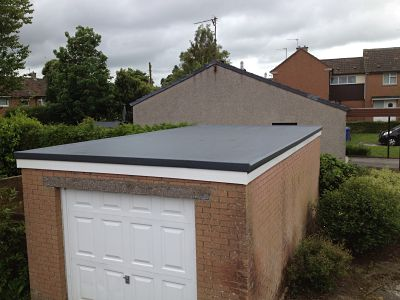 NEW FLAT ROOFING ON A GARAGE IN YORK